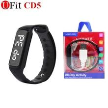 Ufit Origianl CD5 smart bracelet intelligent wristband with retail box 3D Pedometer smart wristband watch tracker