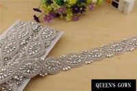 2015 Latest Luxury Bridal Crystal Rhinestone Trim for Wedding Garment Bags Dresses Decoration Chain Sewing lace Applique