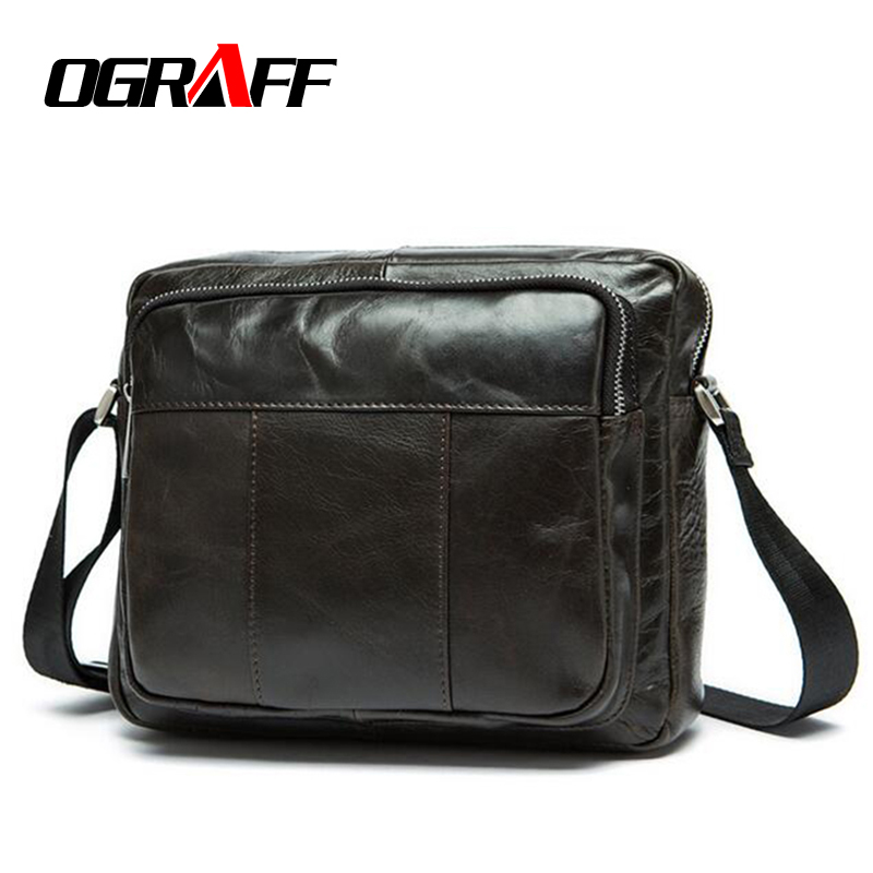 OGRAFF Genuine leather bag men messenger bags casual briefcase Cowhide Men Crossbody Travel Bags business brand fashion male bag new fashion genuine leather business casual men messenger bag high quality cowhide leather crossbody brand bags for men