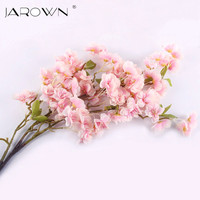 Artificial Silk Sakura Cherry Flores Blossom Oriental Cherry Decoration Wedding Hotel Room Party Accessory Silk Flowers
