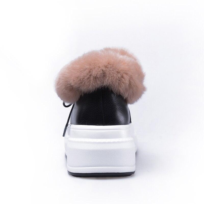 ... Li Modo Cuoio Calzature Piattaforma Punta Mao Delle pink Inverno  Femminile Rotonda Caviglia Pattini beige Li ... 968d4f6fe41