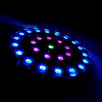 2017 High Quality DIY WS2812 Full Color Wearable RGB LED Crystal Energy Ring Kit Parts Kit