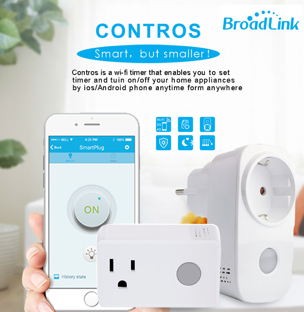 Broadlink Sp3 SP CC 16A+Timer EU US Smart Power Socket Plug Wifi Smart Home Outlet Remote Control For Smart Phone Ipad Android