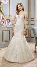 Hot Sale Spaghetti Straps Mermaid Wedding Dress Sweetheart Keyhole Back Court Train Vestido De Noiva NM 574