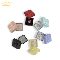 Wholesale 24pcs Assorted Colors Jewelry Display Box Ring Box Earrings 4 4 3cm Packaging Gift Box