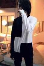 2016 Adolescent Fashion Brand T Shirt Men With Long Sleeves Tshirt Men Hip Hop T Shirt