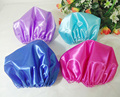 Polyester Satin Silky Feeling Night Sleep Cap 27cm adult size satin Bonnet Cap for hair extension 4 colors choice 50pcs lot