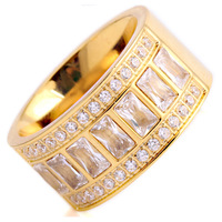 TYME Fashion Jewelry Rings For Women Comfort Fit Multi Men With White Crystal Titanium Steel Ring