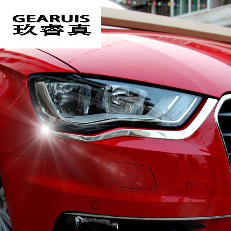 Stainless steel Front Fog Lamps Light Strip Cover Trim For Audi A3 2014-2018