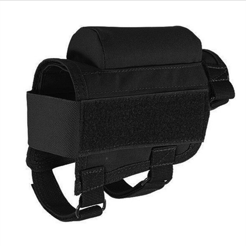 New Canvas Tactical Rifle Cases Cheek Rest Riser Ammo Cartridges Hunting Carrier Pouch Round Cartridge Bag Shell Buttstock Ammo