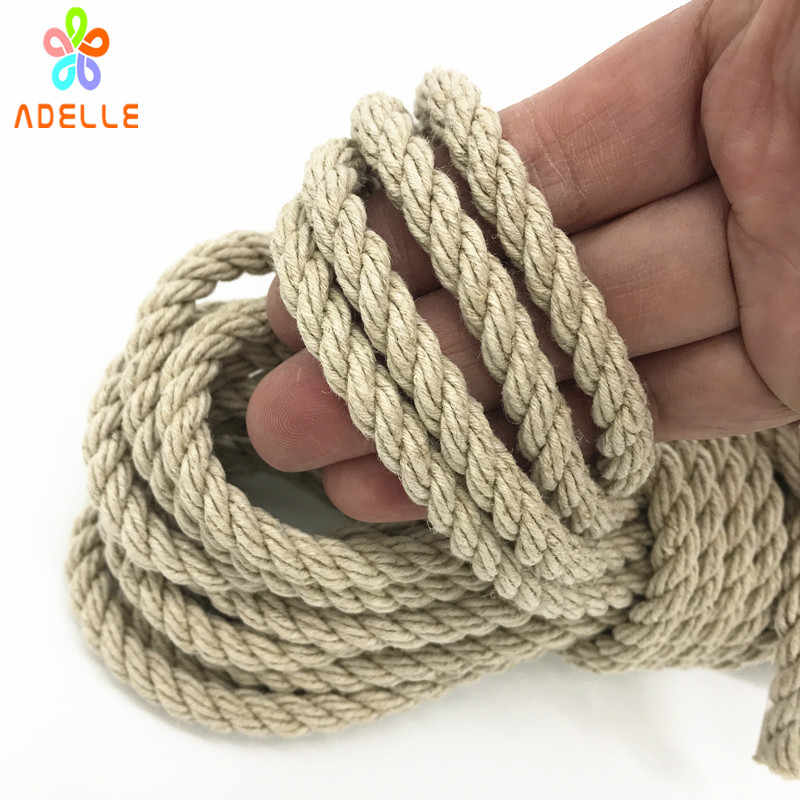 4/6mm twisted hemp rope white hemp cord bondage rope sex toys gardening decorative ourdoors DIY accessory free shipping 25m