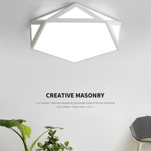 HAWBOIRRY LED Ceiling Light Modern Lamp Living Room Lighting Fixture Bedroom Kitchen Surface Mount Flush Panel Remote Control