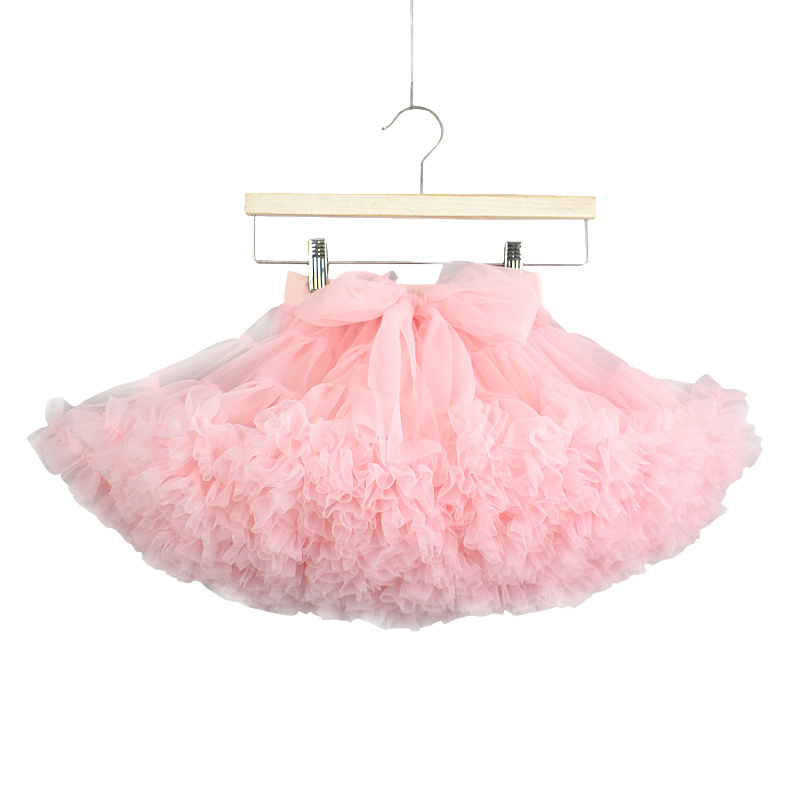 Girls tutu skirt extra fluffy pettiskirt princess soft tulle kids girl party dan