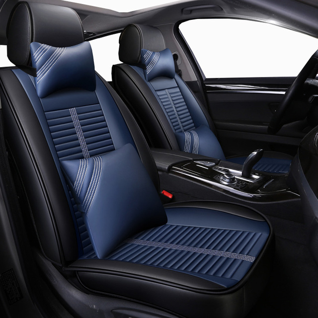 New Leather Universal auto seat covers for Honda accord 7 8 9 civic CRV CR V 2017 2016 2015 2014 2013 2012 2011 2010 2009 2008