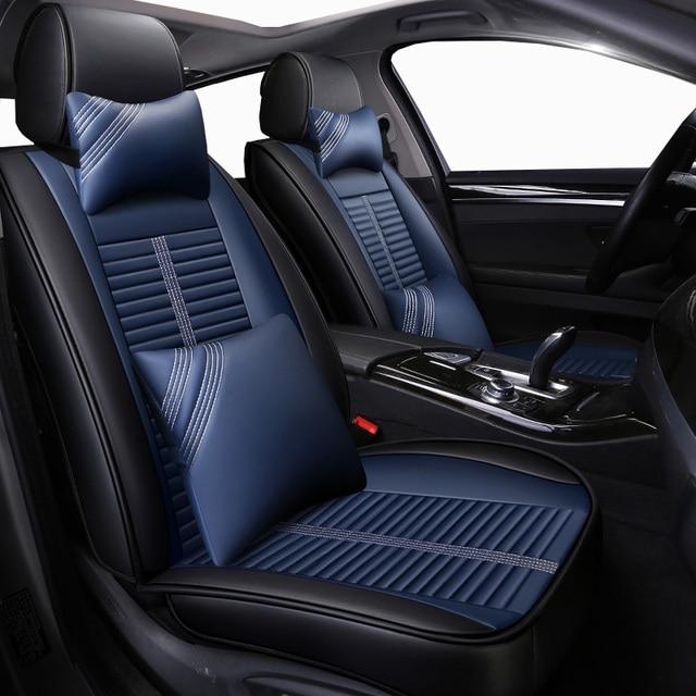 Nuevas fundas de cuero universales para asiento de coche, para Honda accord 7 8 9 civic CRV CR V 2017 2016 2015 2014 2013 2012 2011 2010 2009 2008