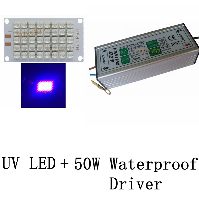 1 Set New 50W 100W 120W Genesis UV 395nm COB Bulbs LED Chip Diode purple Ultra Violet light uv curing+50W/100W Waterproof Driver 10w 12w ultra violet uv 365nm 380nm 395nm high power led emitting diode on 20mm cooper star pcb