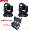SONGXU 2 pcs 150 W LED Spot Luz Em Movimento Da Cabeça Com 2 em 1 caso do Vôo Profissional DJ Stage Disco luz/SX-MH150