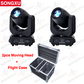 SONGXU 2pcs 150W LED Spot Moving Head Light With 2 in 1 Flight case  Professional DJ Stage Disco Light/SX-MH150