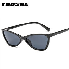 0dec22a8bbb YOOSKE Cute Cat Eye Sunglasses Women Tinted Color Lens Vintage Sun Glasses  for Womens Triangle Shaped Eyewear