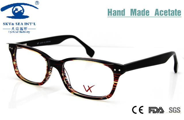 Moda 2015 Ordenador Oculos Hand Made Acetato Gafas Hembra Acepta Modificado Gafas Graduadas Gafas Mujeres Óptico