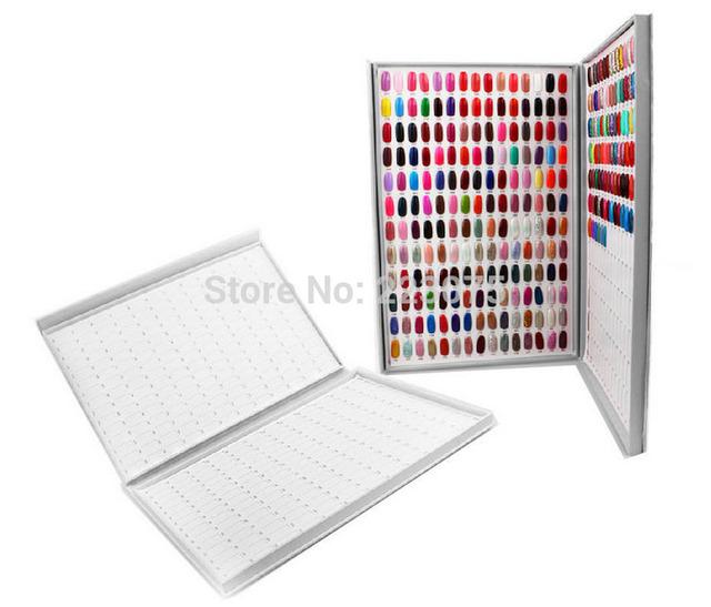 Profesional de 308 Colores de Uñas de Gel Acrílico Polaco Display Gráfico de Libro para el Arte Del Clavo Manicure Salon UV gel de Color de la Tarjeta
