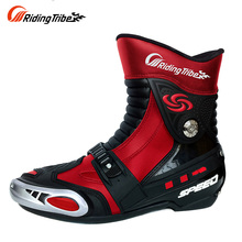 RRIDING TRIBE SPEED BIKERS Dirt Bike Off-Road Moto Racing Boots Over Ankle Protective Motorbike Riding Sports Shoes Botas