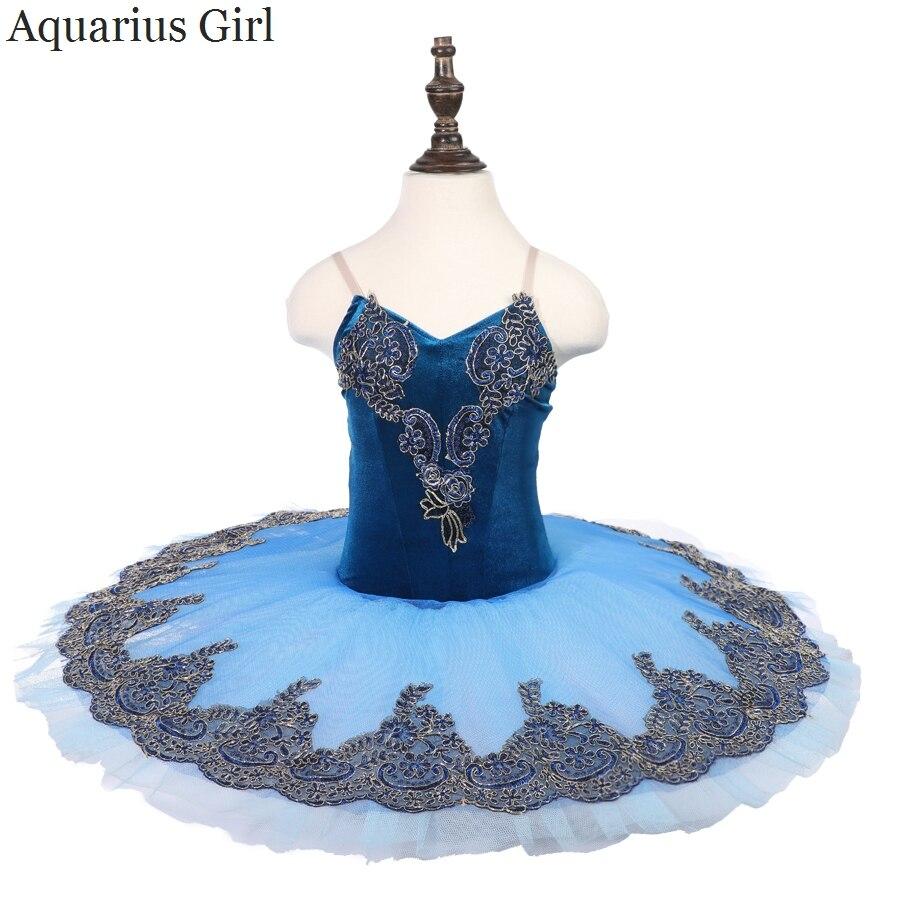classical-font-b-ballet-b-font-performance-tutu-skirt-velvet-bodies-7-layers-hard-tulles-blue-pancake-tutu-stage-costumes-blue-bird-dresses