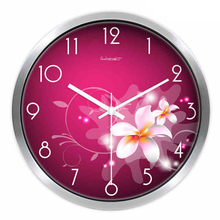 Flower Wall Clock Modern Design Silver Silent Chinese Style Gift Pendule Quality Quartz Clock Movement Household Products CCN45