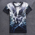 Hot Sale New 2016 Men 3d T Shirt Fashion Fire Heart Milk Painting Norse Mythology Novel Stone Print Couple Clothes WITH YZ800