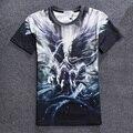Hot Venda Nova 2016 Homens 3d T Shirt Da Forma de Coração Do Fogo leite Pintura Mitologia Nórdica Romance Pedra Imprimir Roupas Casal COM YZ800