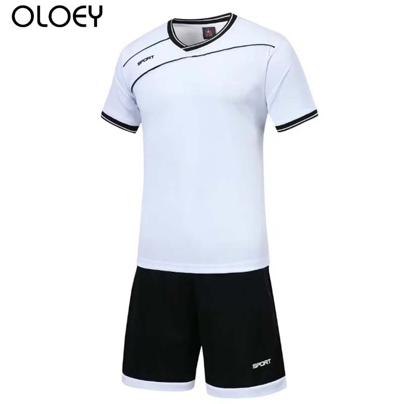 Mens Sport Suits Football Jersey Set Summer Sweat Suits T-shirt Shorts Training Soccer Jersey Track Suits Jogging Set Tracksuit