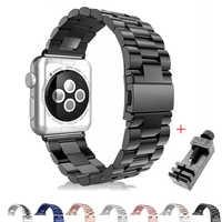 Dla pasek do apple watch 4 3 2 38 40 42mm 44mm Sport ze stali zegarek ze stali zapięcie do bransoletki Adapter pasek do zegarka iwatch z narzędzia