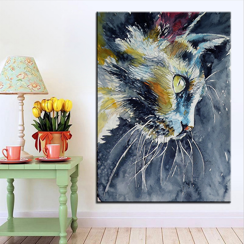 Large size Printing Oil Painting cat kovacs 1 Wall ...