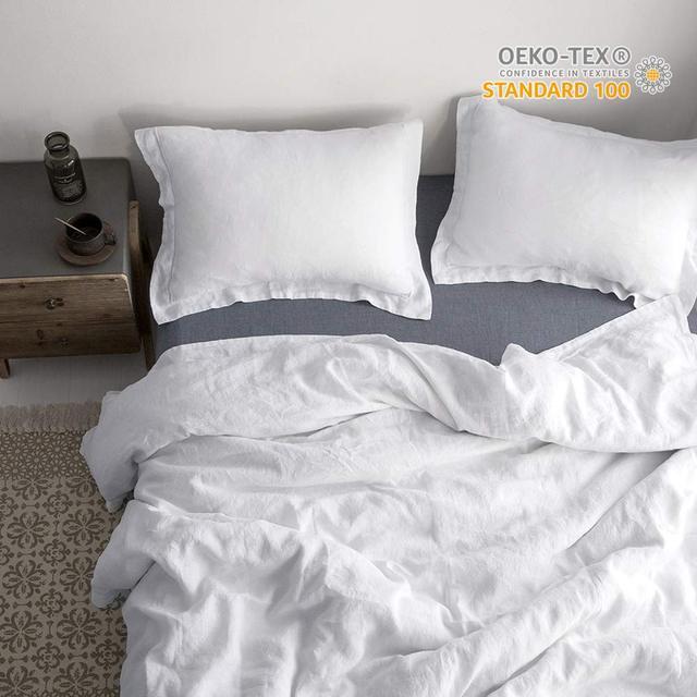 100 Leinen Stein Waschen Bettwäsche Set Duvet Abdeckung Und Kissen