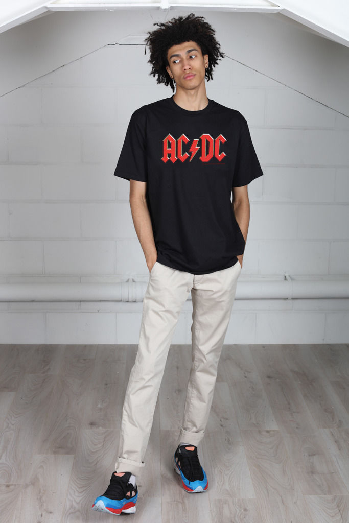 Gildan AC/DC Red Logo Unisex T-Shirt Licensed Merch Back In Black Dirty Deeds ...