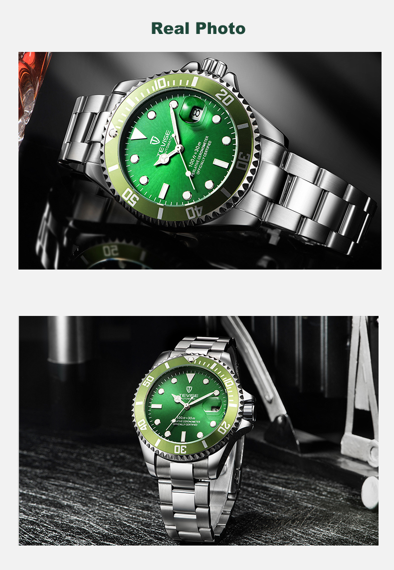 2019 Drop Shipping Tevise Top Brand Men Mechanical Watch Automatic Fashion Luxury Stainless Steel Male Clock Relogio Masculino