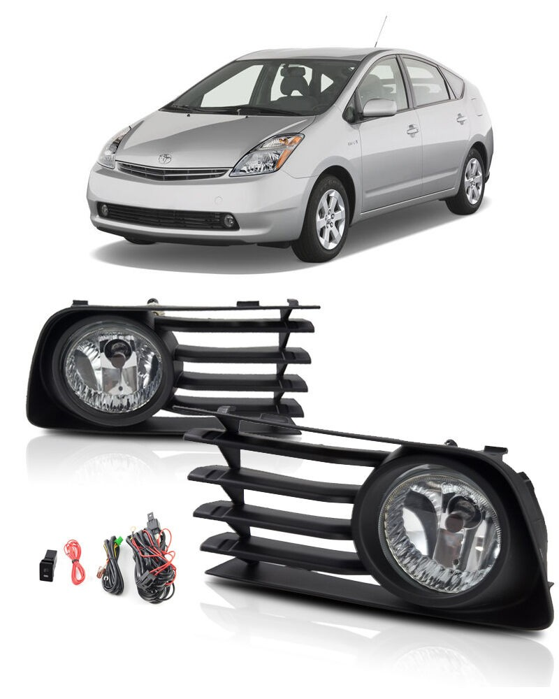 JanDeNing pour pare-chocs avant lampe antibrouillard halogène + câblage + Kit interrupteur pour TOYOTA Prius 2004-2009