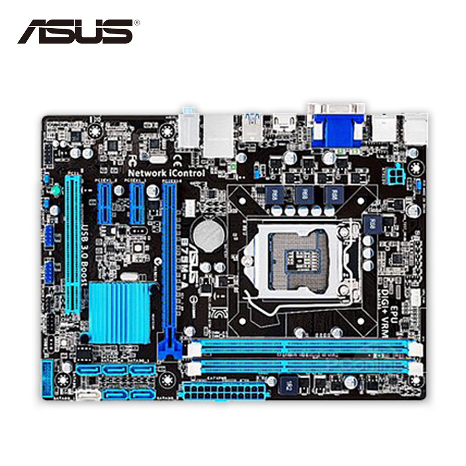 Asus B75M-A Desktop Motherboard B75 Socket LGA 1155 i3 i5 i7 DDR3 16G SATA3 USB3.0 Micro ATX On Sale Second-hand High Quality asus h61m e original used desktop motherboard h61 socket lga 1155 i3 i5 i7 ddr3 16g micro atx on sale