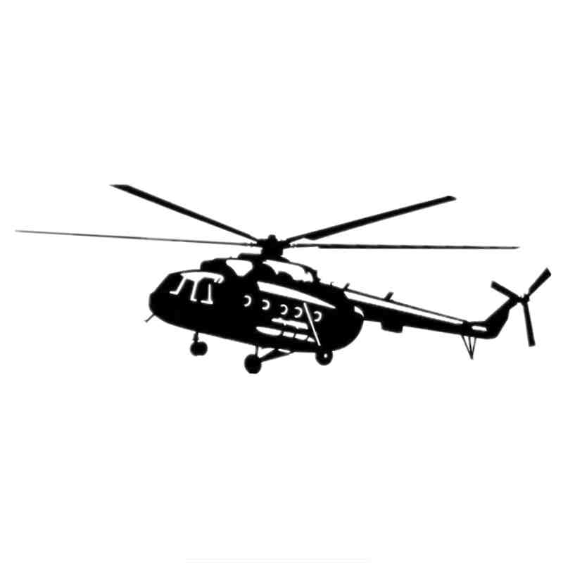Three Ratels TZ-844 8.6*24.5cm 1-5 Pieces Car Sticker Mi-8 Helicopter Auto Sticker Car Stickers Removable