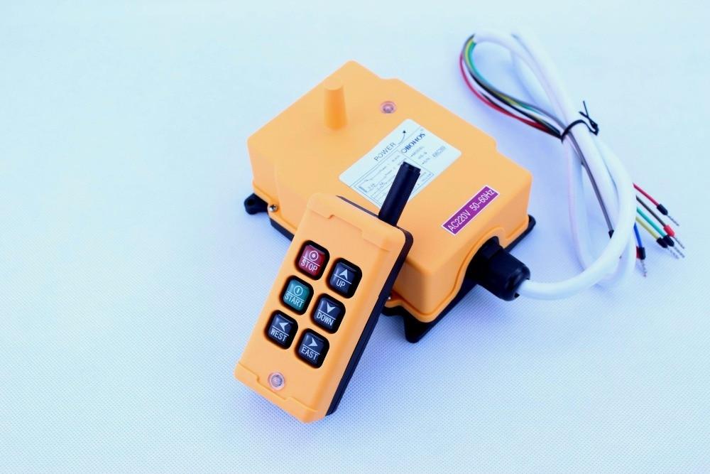 Industrial Remote Control Crane Transmitter HS 6 6 keys receiver transmitter DC12V 24V AC36V 110V 220V
