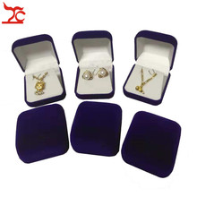 60Pcs  Fashion Black/Red/Blue 4Color Available  Blocked Velvet Wedding Jewelry Earring Storage Box Pendant Stud Package Gift Box
