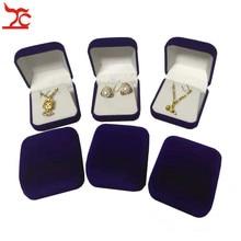 Boîte de rangement en velours bloqué, à la mode, 4 couleurs, noir/rouge/bleu, 60 pièces, rangement de bijoux de mariage, boucles doreilles, emballage cadeau