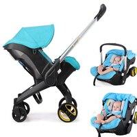 Детские коляски 3 в 1 складной Портативный путешествия коляска младенческой корзина коляски Автокресло новорожденных каретки