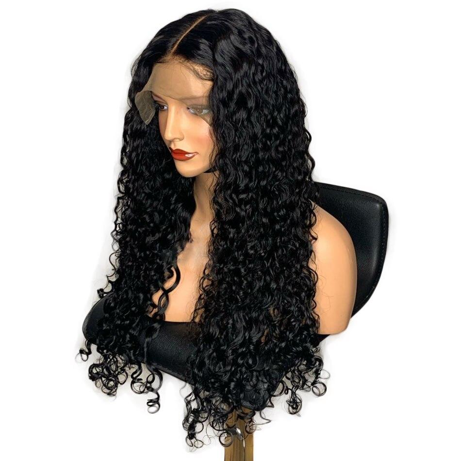 ALIBELE HAIR Brazilian Water Wave Wig 360 Lace Frontal Wigs For Black Women Brazilian Wig Remy