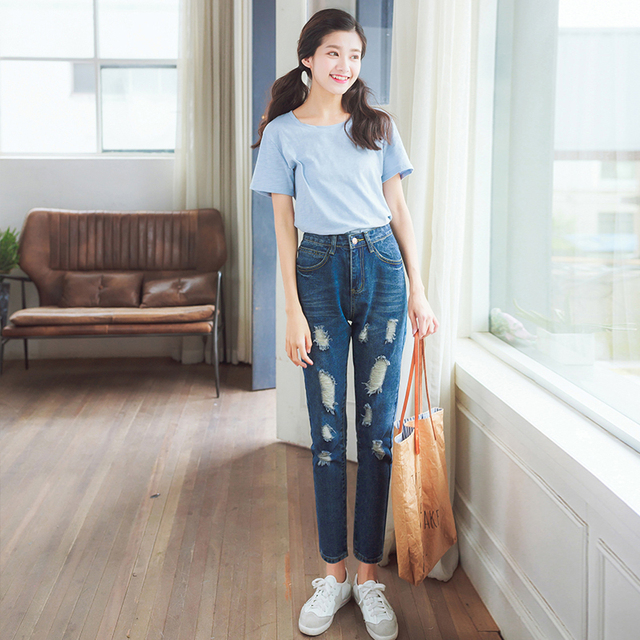 Aliexpress.com : Buy Jeans Womens New 2017 Loose Denim Pants BF ...