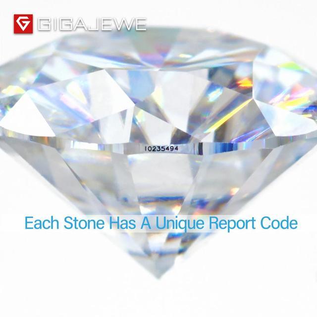 Gigajewe real d cor 1-3ct redondo moissanite qualidade superior teste de diamante solto passou gem diy para fazer jóias 3