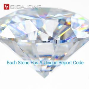 Image 3 - GIGAJEWE D カラー 1 3ct VVS1 モアッサルースダイヤモンドテスト合格トップ品質証明書ラボ宝石ジュエリーメイキングのために
