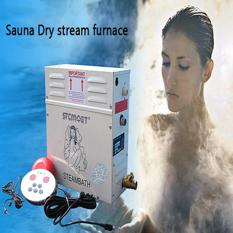 6KW 220/380 V Machine à vapeur à usage domestique ST-60 générateur de vapeur Sauna four à courant sec vapeur humide vapeur contrôleur numérique 1 PC