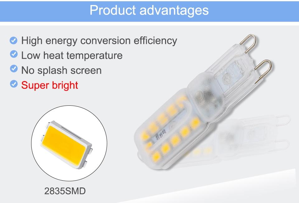 G9 LED Bulbs 220V 110V Dimmable (6)