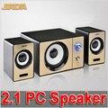 2016 Новый САДА S-200D портативный Компьютер Аудио Колонки, Вход AUX Мультимедиа Мини Портативный Небольшой 2.1 Сабвуфер, Питание От Порта USB